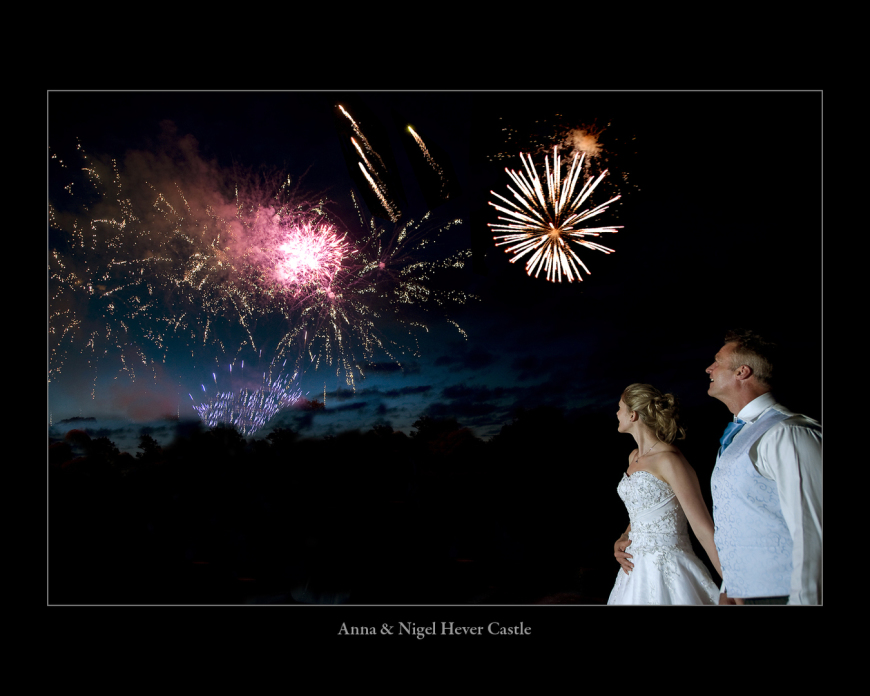 Nigel & Anna wedding at Hever Castle with fireworks