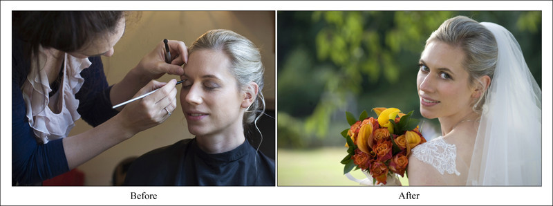 Make up, before & after. Photography by Kenny Hickey Photography