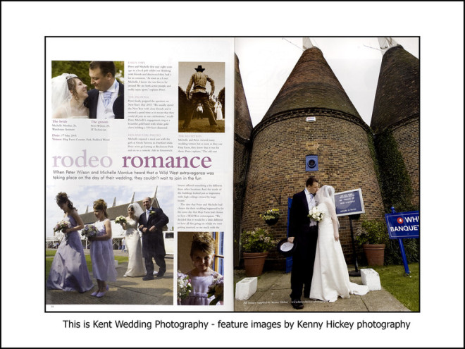 This is Kent Wedding Magazine wedding feature by Kenny Hickey Photography