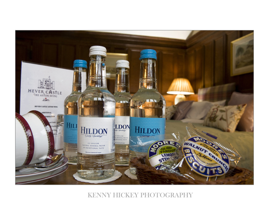 Hildon water, corporate, Hever Castle