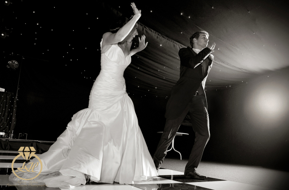 Bride & Groom dancing at Mountains Country House in Kent