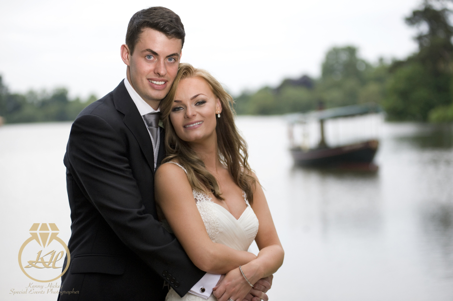 Ally & Ryan, Hever Castle wedding by the lake