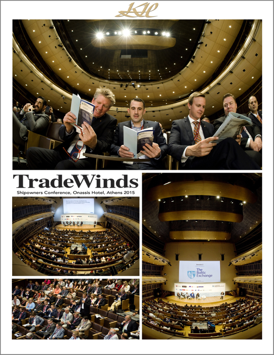 Trade Winds, corporate, PR, Shipowners Conference, Onassis Hotel, Athens, Greece 2015