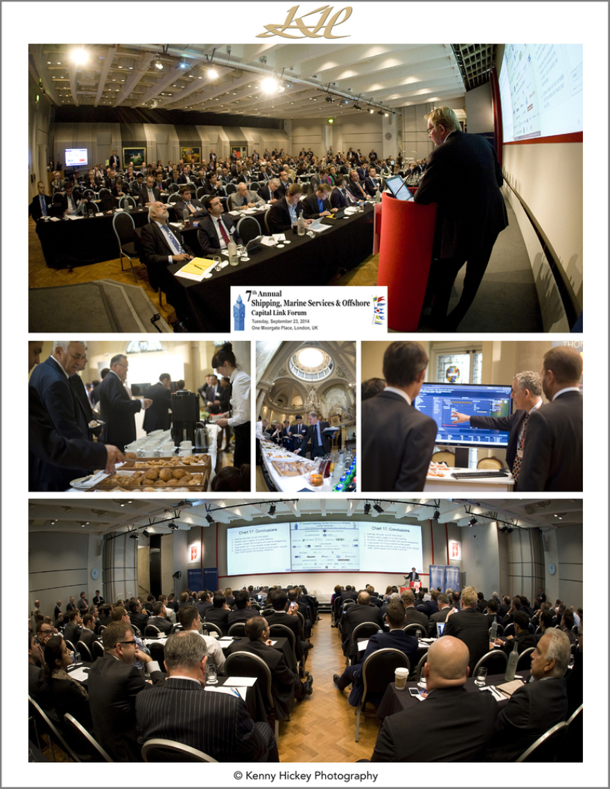 Trade Winds, corporate, PR event, Capital Link Forum, Moorgate Place London, September 2014