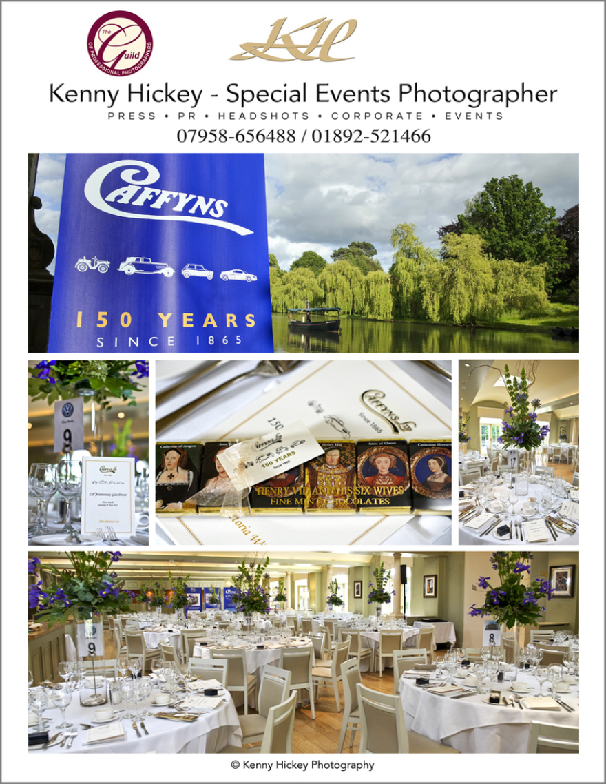 Caffyns corporate celebration event at Hever Castle June 2015