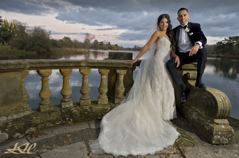 Columbian Bride & Groom at Hever Castle