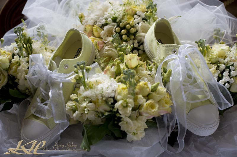 Harriet & Josh wedding at Hever Castle wedding converse shoes and wedding flowers