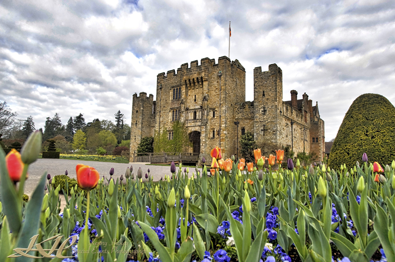 Hever Castle with blooms