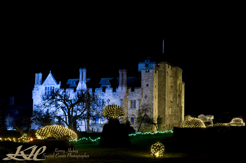 Hever Castel at nightat Christmas time