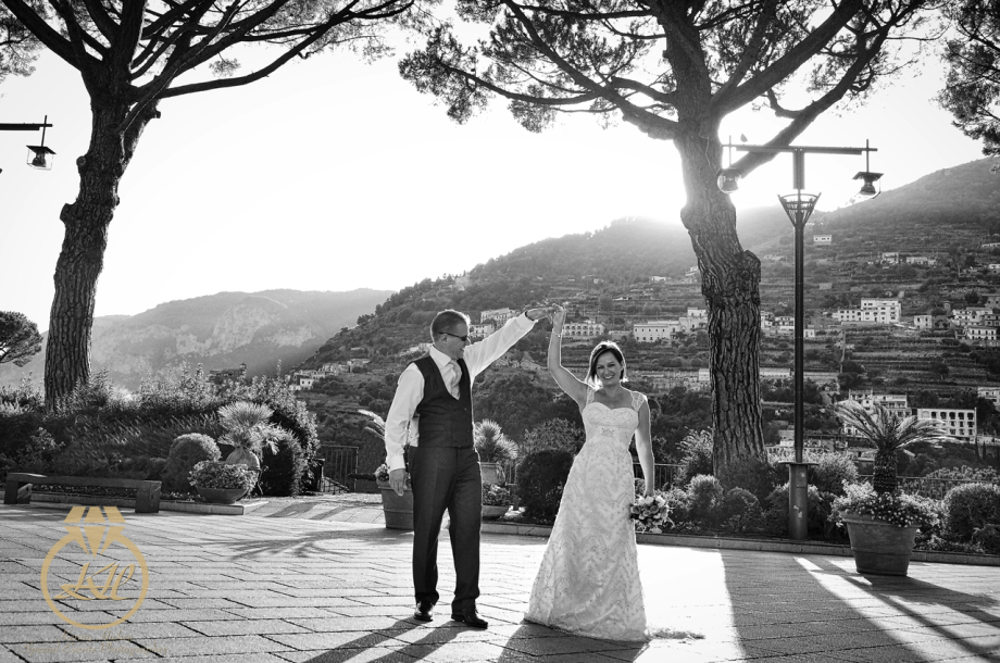 Nicola & Andrew destination wedding in Ravello, Italy