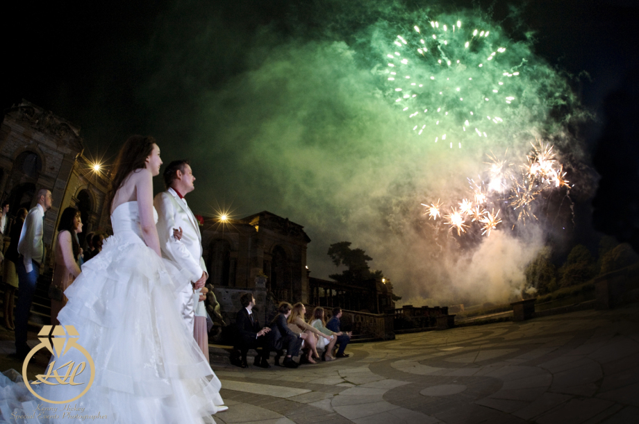 Russian Wedding at Hever Castle with Fireworks