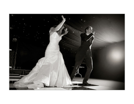 Wedding, bride & groom, French, first dance, dancing, black & white, Mountains Country House, Kent wedding
