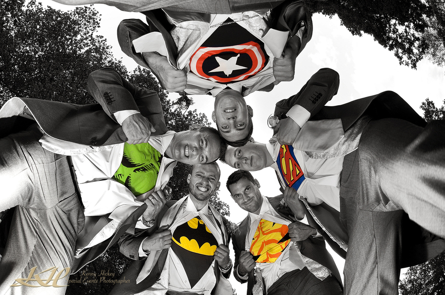 Super Hero's at Mountains Country House wedding