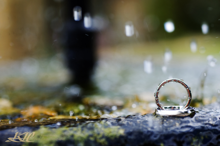 wedding rings and fountain, Mountains Country House